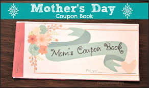Homemade Gift For Mom Mothers Day Coupon Book
