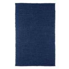 textured wool rug navy