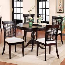 bayberry wood round dining table chairs in dark cherry