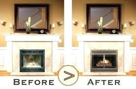 fireplace refacing stone fireplace refacing fireplace refacing cost to reface with stone veneer before after brick