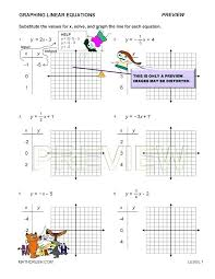 linear function graph worksheet equations worksheets algebra 1 graphing quadratic inequalities pdf