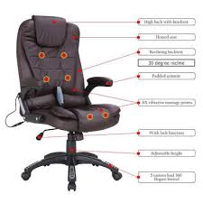 heated office chair. Executive Ergonomic Office Massage Chair Heated Vibrating Computer Desk T