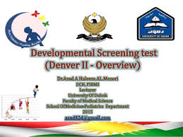 Denver Developmental Scale Chart Developmental Screening Test Denver Ii Overview