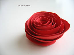 Paper Flower Branches Making Paper Flowers Simple Paper Rose Flower Tutorial