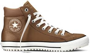 converse chuck taylor all star leather thinsulate converse boot pc pinecone brown egret 149388