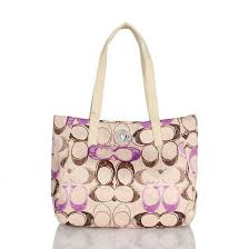 Coach Poppy Turnlock Medium Apricot Totes BWV