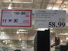 s simplicity full motion 22 47 tv wall mount smf3 costcochaser with regard to costco tv