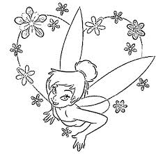 Disney Easter Coloring Pages Tinkerbell Fairies Dolls