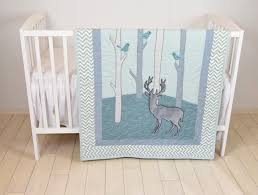 woodland blanket birch tree crib quilt personalized deer crib bedding personalized baby blanket mint green and chevron
