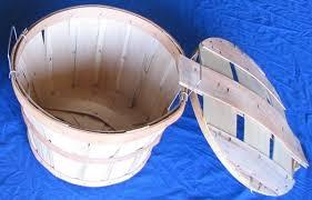 item no 828 bushel basket cover natural wood 12 pack