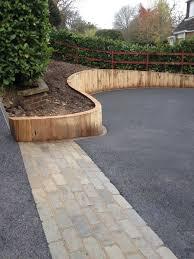 wood retaining wall ideas for vertical oak sleeper retaining walls buscar con google