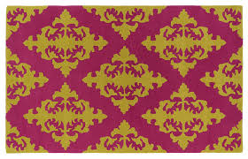 venetia rug pinkgold contemporary area rugs pink and gold bath rug