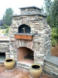 outdoor pizza oven brick building fireplace diy plans bu