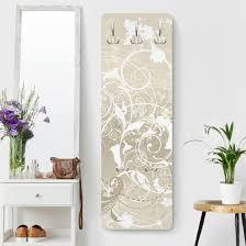 Garderobe Weiß Perlmutt Ornament Design Landhaus