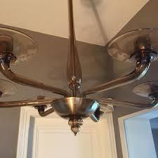 blown glass chandelier 1960s 3
