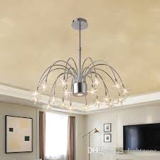 post modern led meteor shower pendant lamp chandeliers new design charming glass round creative pendant lights restaurant cloth hotel semi flush