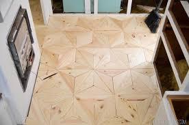 diy geometric wood floor vintagerevivals com 28