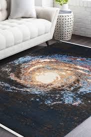 solar system modern area rug