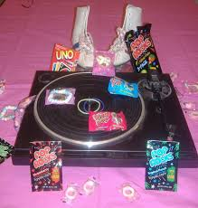 i like the idea of using these 80 s props on the tables for my 80 s