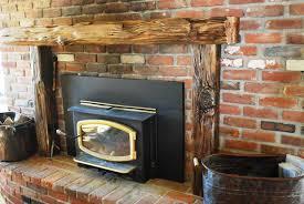 image of reclaimed wood fireplace mantel shelf