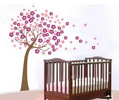image of flower wall decal for nursery