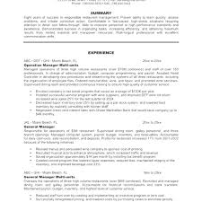 resume for restaurants resume restaurant manager resume styles template free business and