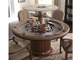 hidden bar furniture. speakeasy poker table with top up showing hidden bar furniture