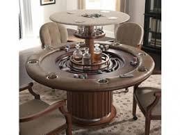 hidden bar furniture. speakeasy poker table with top up showing hidden bar furniture