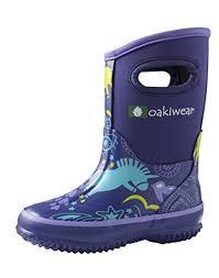Oakiwear Rain Boots Size Chart Galleon Childrens Neoprene Rain Snow Boots Purple Unicorn 12