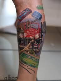 реалистичная тату на руке ретро тематики фото татуировок