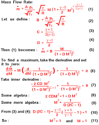 a graphic presenting the derivation of the maximum flow condition
