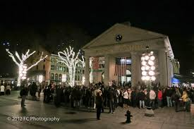 faneuil hall christmas tree lighting. A Couple Of Images Street Performer. I Suspect This Is Commonplace. Faneuil Hall Christmas Tree Lighting