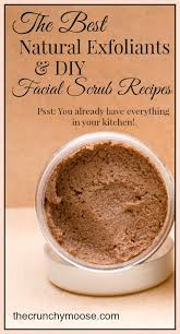 natural exfoliants scrub recipes thecrunchymoose com