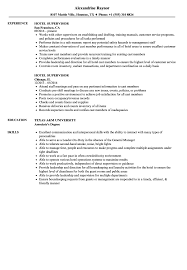 Sample Hotel Resume Hotel Supervisor Resume Samples Velvet Jobs 6