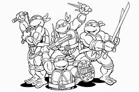 Teenage Mutant Ninja Turtles Coloring Pages Printable For
