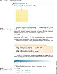 you can of course still find a third point other than the two 11 graphing linear equations
