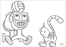 Small Picture Dizzy And Pilchard coloring page Free Printable Coloring Pages