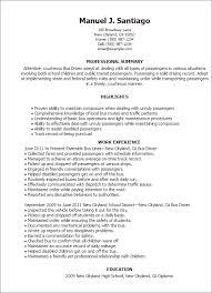 Ttc Bus Driver Resume Sample