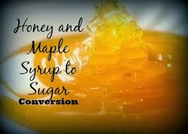 subsuting honey and maple syrup for
