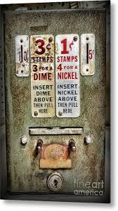 Vintage Stamp Vending Machine Best Us Postage Stamp Metal Prints And Us Postage Stamp Metal Art Fine