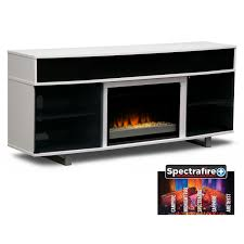 entertainment furniture pacer 72 contemporary fireplace tv stand with sound bar white