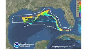 What Do The Colors Denote In A Bathymetric Chart Gulf Of Mexico 2018 Expedition Science Technology News