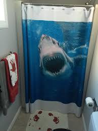 full image for cool shark shower curtain 120 shark shower curtain shark shower curtain photo