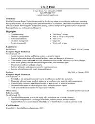 Sample Cover Letter For A Computer Technician Livecareer Leading