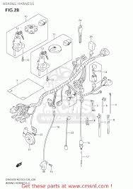 suzuki dr650se 2006 k6 usa e03 wiring harness schematic wiring harness schematic