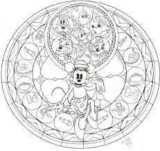Minnie Mouse Stained Glass Coloring Pages Get Coloring Pages