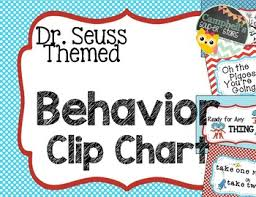 Dr Seuss Chart Dr Seuss Theme Behavior Chart
