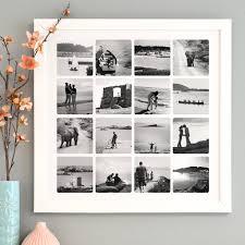 white framed print