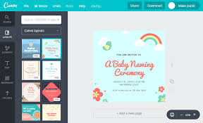 design the cutest invitation card for your baby s naming ceremony