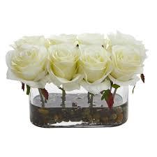 gl vase artificial arrangement